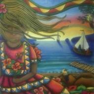 La Pequeña Niña del Caribe by 3fraín Antonio
