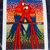 Parrots in Love by 3fraín Antonio